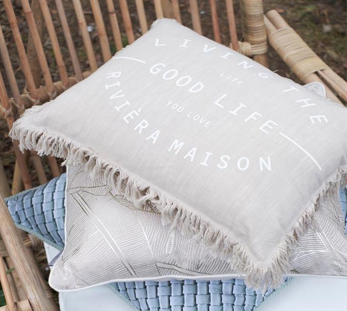 Rivièra Maison Good Life Cushion Sand