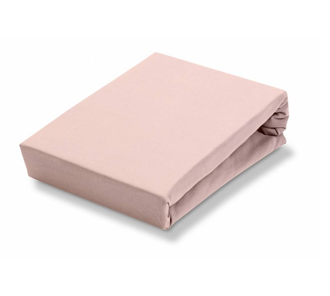 Jersey Supreme Stretch Topper Sepia Pink Hoeslaken