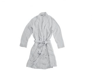 VT Wonen Cuddle Bathrobe Light Grey