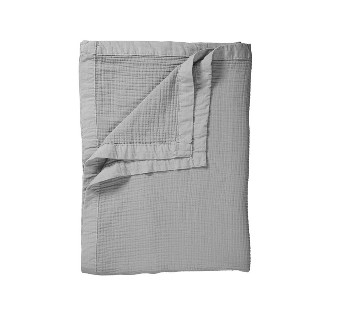 VT Wonen Cuddle Bedspread Light Grey