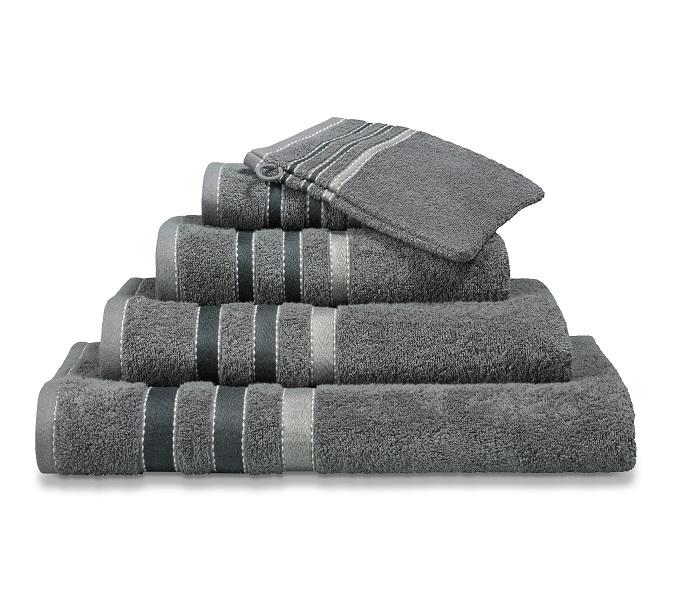 Vandijck Prestige Towels Lines Mole Grey