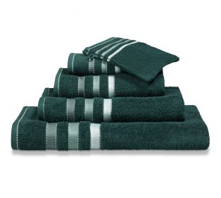 Vandijck Prestige Towels Lines Dark Green