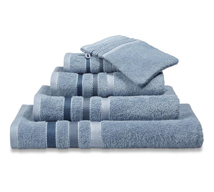 Vandijck Prestige Towels Lines Dusty Blue