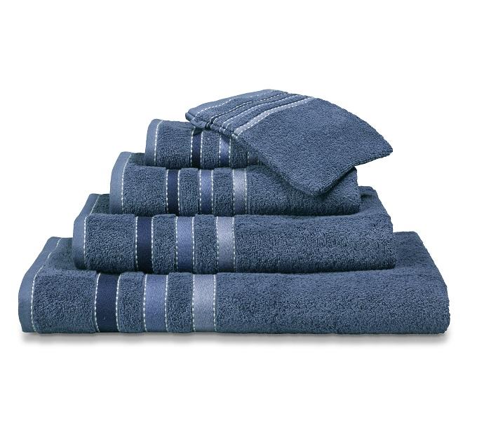 Vandijck Prestige Towels Lines Vintage Blue