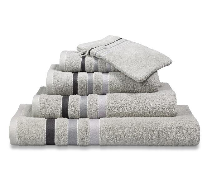 Vandijck Prestige Towels Lines Steel Grey