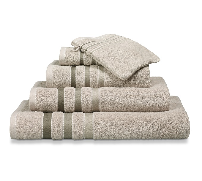 Vandijck Prestige Towels Lines Stone