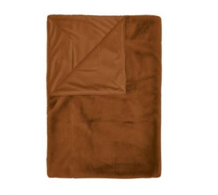 Essenza Furry Plaid Leather Brown