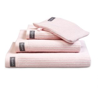 Vandyck Badgoed Home Towel Petit Ligne Light Pink