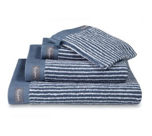 Vandyck Badgoed Home Towel Petit Ligne Faded Denim